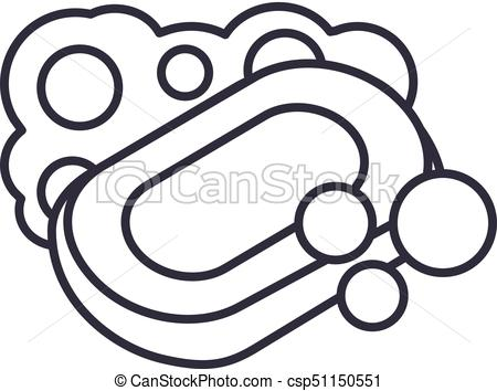 450x354 Soap Vector Line Icon, Sign, Illustration On Background, Editable