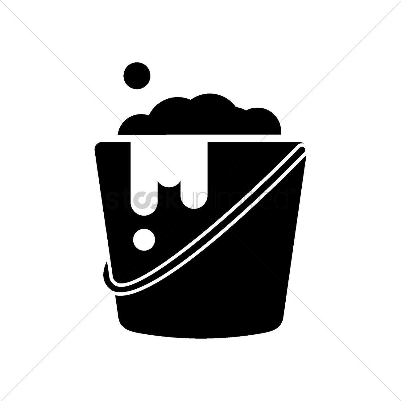 1300x1300 Bucket Of Soap Vector Image