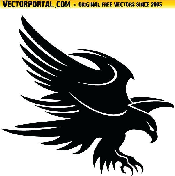 602x605 Eagle Silhouette Clip Art Eagle Vector Best Black Tribal Eagle