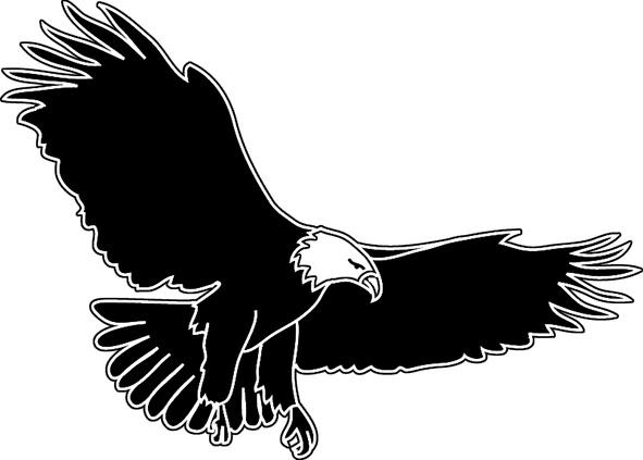 591x423 Soaring Eagle Outline Clipart