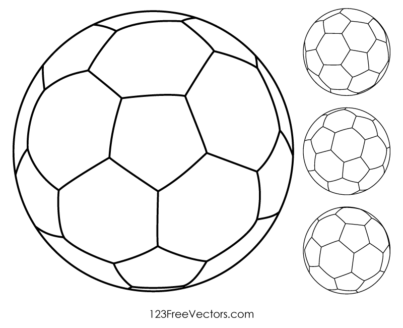 Soccer Ball Outline Vector