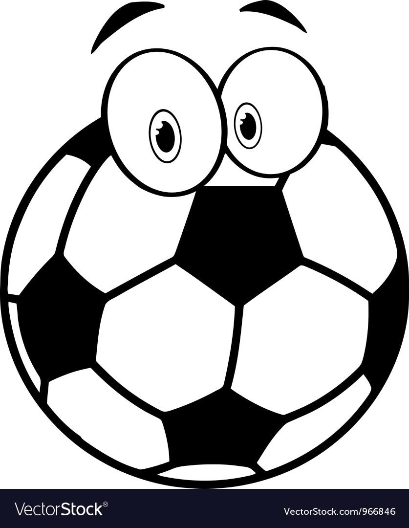 837x1080 63194157 Vector Single Cartoon Soccer Ball On White Background 15