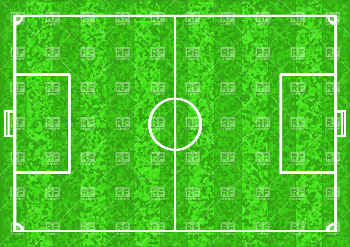 1200x846 Football Pitch (Soccer Field) Vector Image Vector Artwork Of