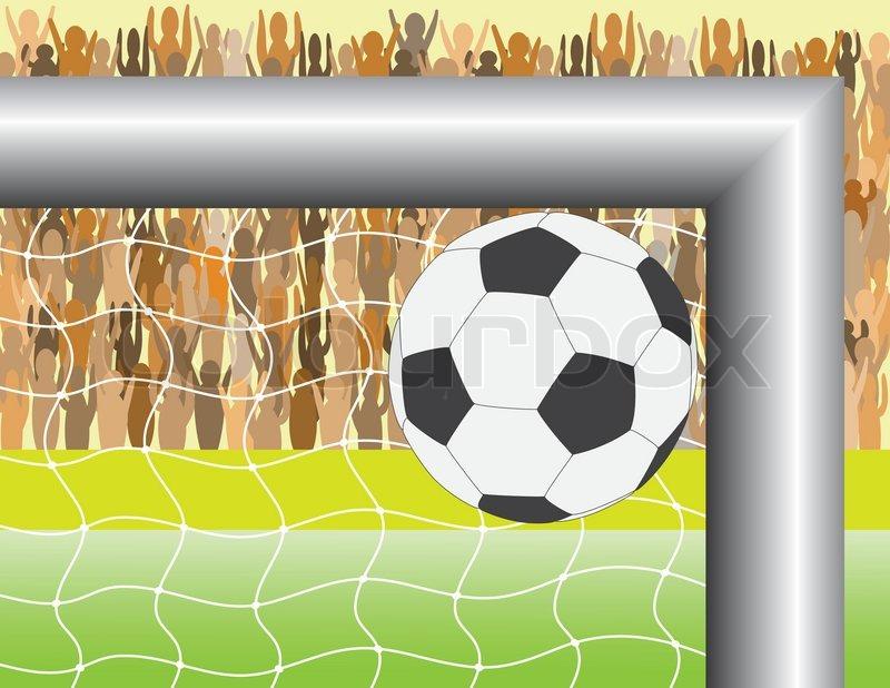 800x618 Goal. A Ball Targeting In Football (Soccer) Goal