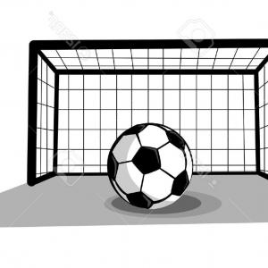300x300 Soccer Ball In The Net Gate Goal Vector Clipart Arenawp