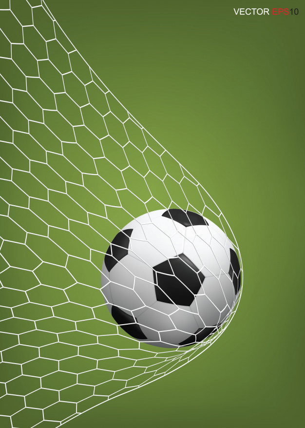 626x878 Soccer Football Ball In Soccer Goal. Vector Premium Download