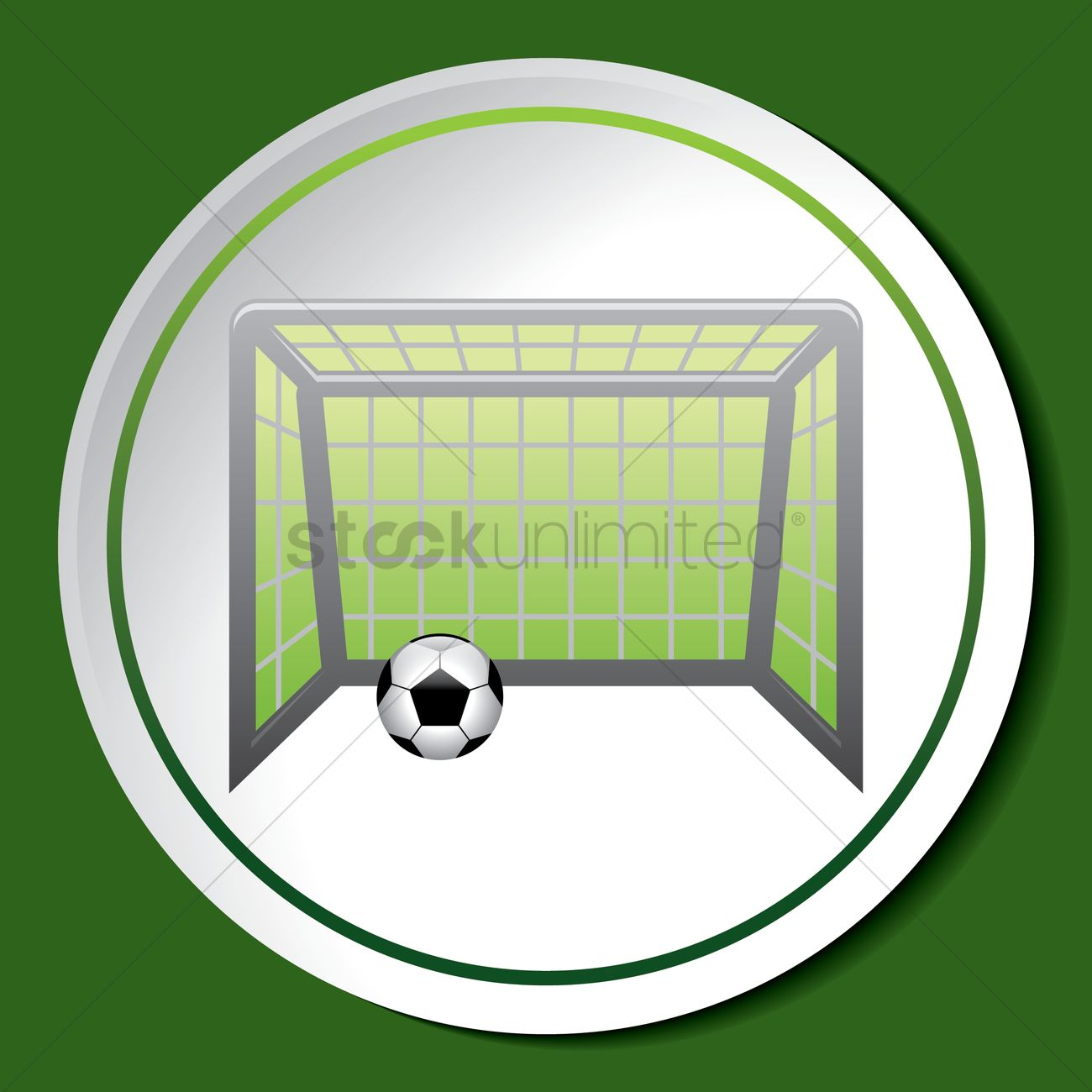 1300x1300 Soccer Goal Vector Image