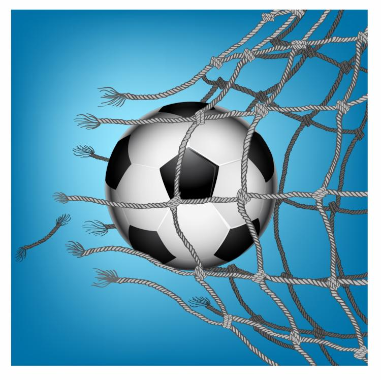 750x748 Soccer Goal Breaking Through The Net Free Vector 4vector