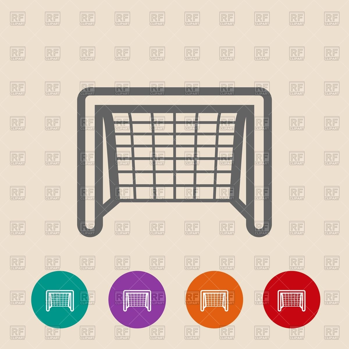 1200x1200 Soccer Goal Flat Icon Vector Image Vector Artwork Of Sport And
