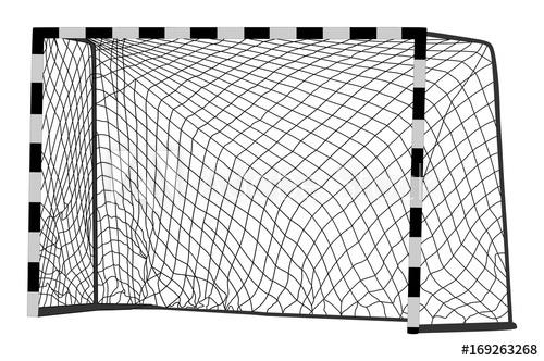 500x332 Soccer Goal Vector. Handball Vector Construction With Net. Footsal