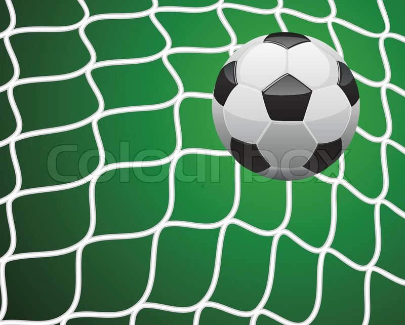 800x642 Vector Illustration Of Soccer Goal Stock Vector Colourbox