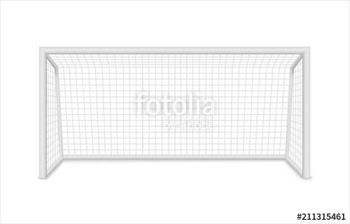 500x320 Football Goal. Soccer Goal. Vector Stock Image And Royalty Free