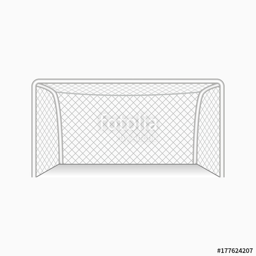 500x500 Football Or Soccer Goal. Vector Illustration. Stock Image And