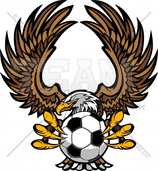 547x590 Eagle Soccer Logo Clipart Image. Easy To Edit Vector Format