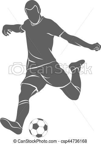 332x470 Ball, Soccer, Player. Silhouette Soccer Player Quick Shooting A
