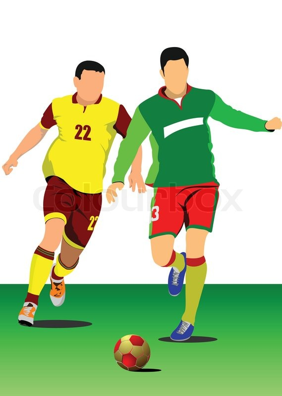 569x800 Soccer Player Poster Football Player Vector Illustration Stock