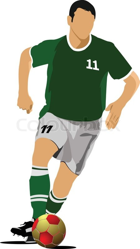 450x800 Soccer Player. Football Player. Vector Illustration Stock Vector