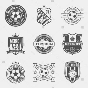 300x300 Set Football Soccer Crests Logos Vector Shopatcloth