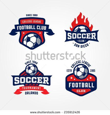 450x470 Set Of Soccer Football Badge Logo Design Templates Sport Team
