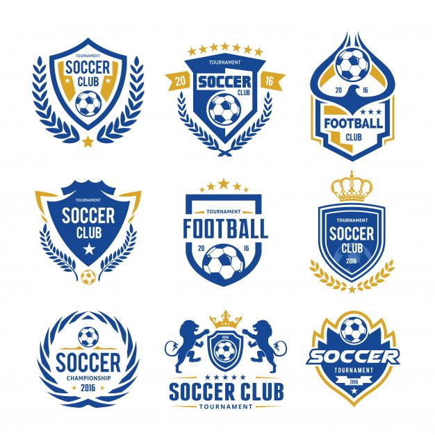 626x626 Set Of Soccer Football Logo Template Vector Premium Download