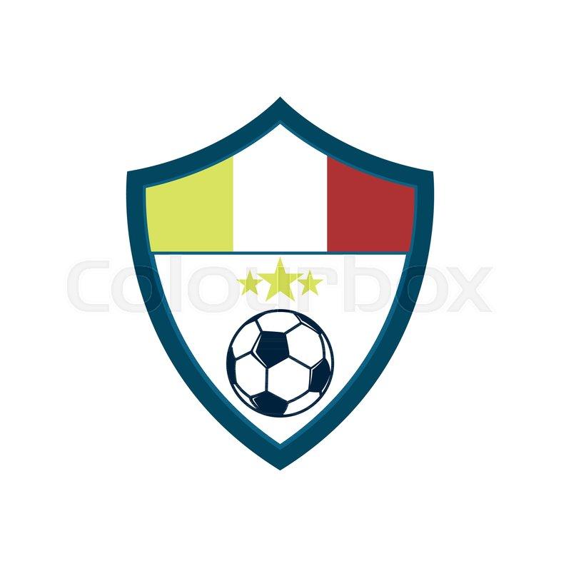 800x800 Soccer Fever Concave Shield Footbal Club Emblem Vector