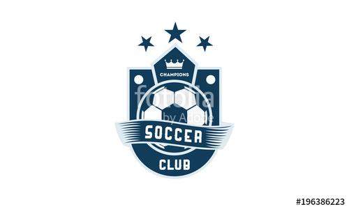 500x300 Soccer Football Badge With Shield Logo Designs, Soccer Emblem Logo