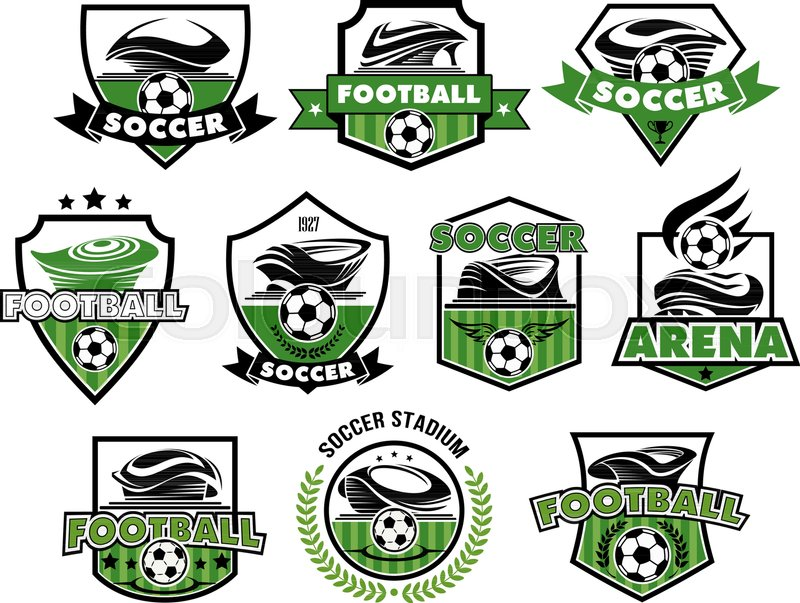 800x603 Soccer Club Or Football College League Team Icons Or Badges