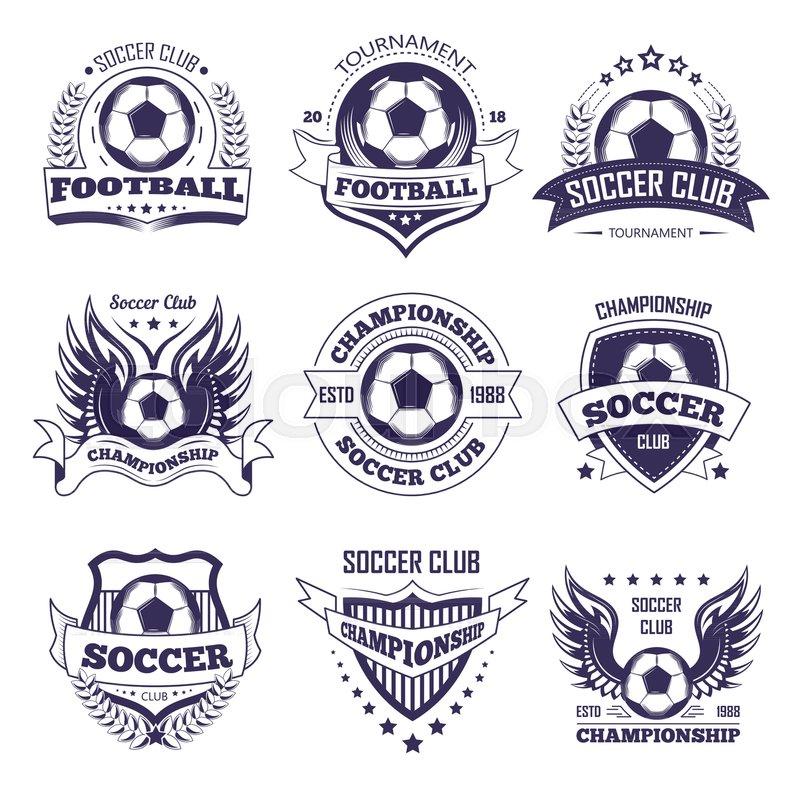 800x800 Soccer Club Or Football League Championship Cup Logo Templates
