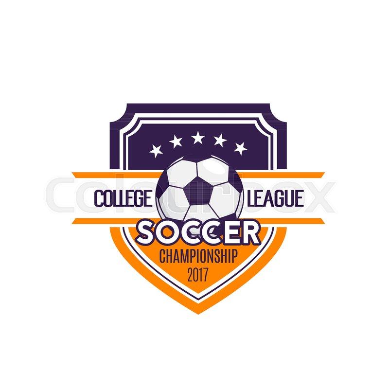 800x800 Soccer College League Or Football Team Sport Club Badge Icon