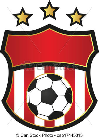 338x470 Soccer Logo. Soccer Emblem Or Logo Template.