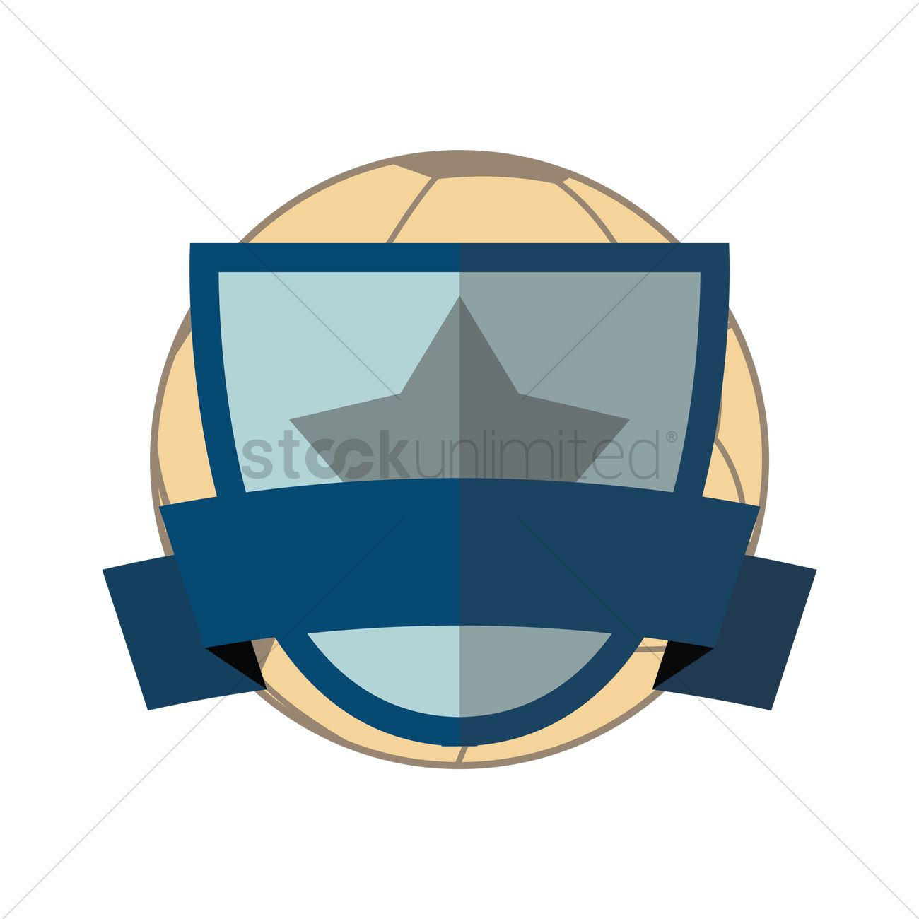 1300x1300 Soccer Shield Vector Image
