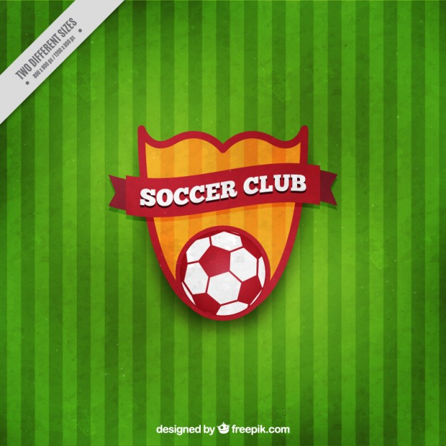 626x626 Soccer Shield On A Green Background Vector Free Download