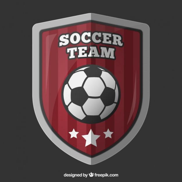 626x626 Soccer Team Shield Vector Premium Download