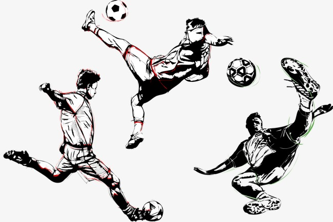 650x434 Vector Man Playing Soccer, Man Clipart, Soccer Clipart, Vector Man