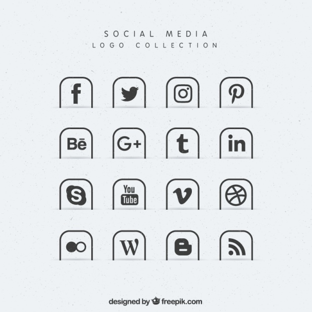 626x626 Collection Of Social Media Icons Vector Free Download