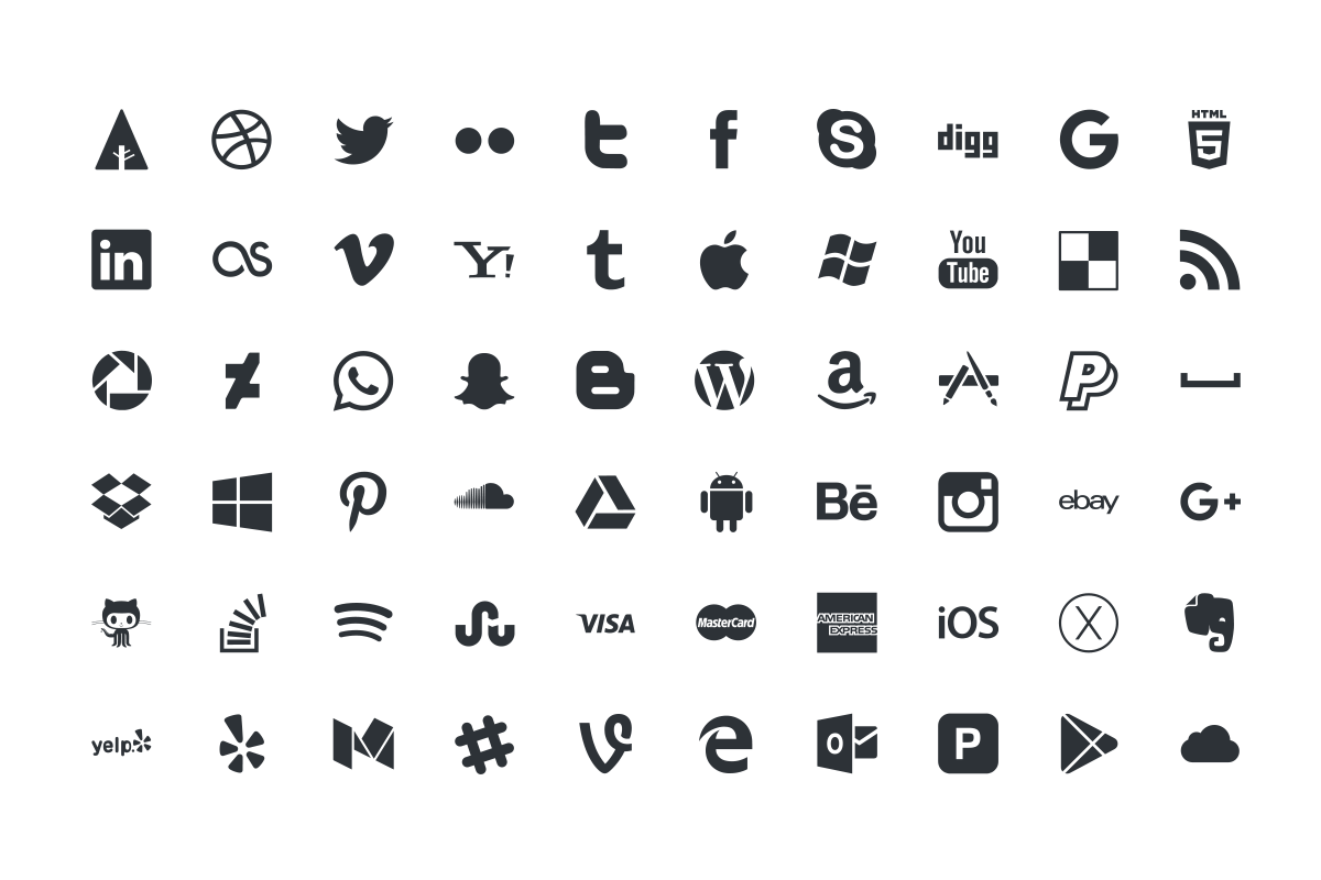 1200x800 Free Social Media Vector Icons By Thehungryjpeg