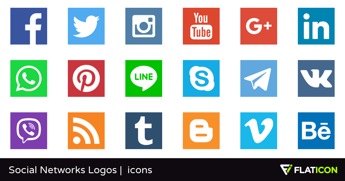 1200x630 Social Networks Logos 29 Free Icons (Svg, Eps, Psd, Png Files)