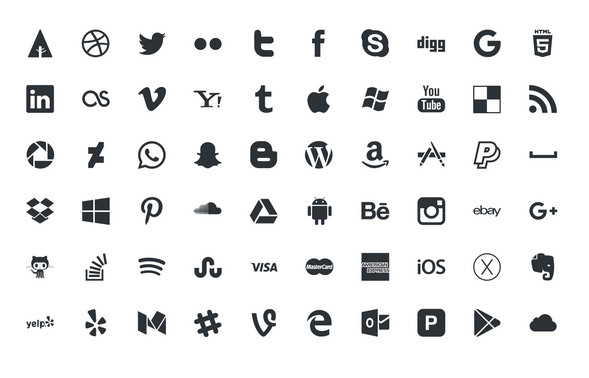 589x378 Free Social Media Icons 2016 In Psd And Vector