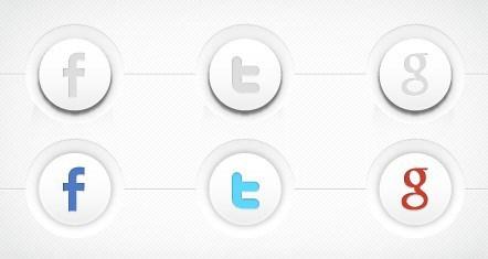 442x235 Free 3d Social Media Buttons Vector