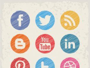 310x233 Social Media Buttons Free Free Vector Free Vectors Ui Download