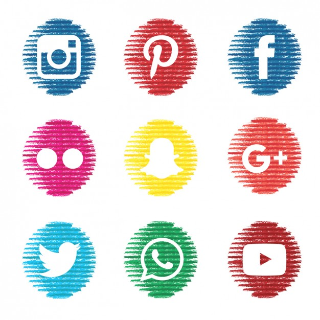 626x626 Social Media Icons Vector Downloads