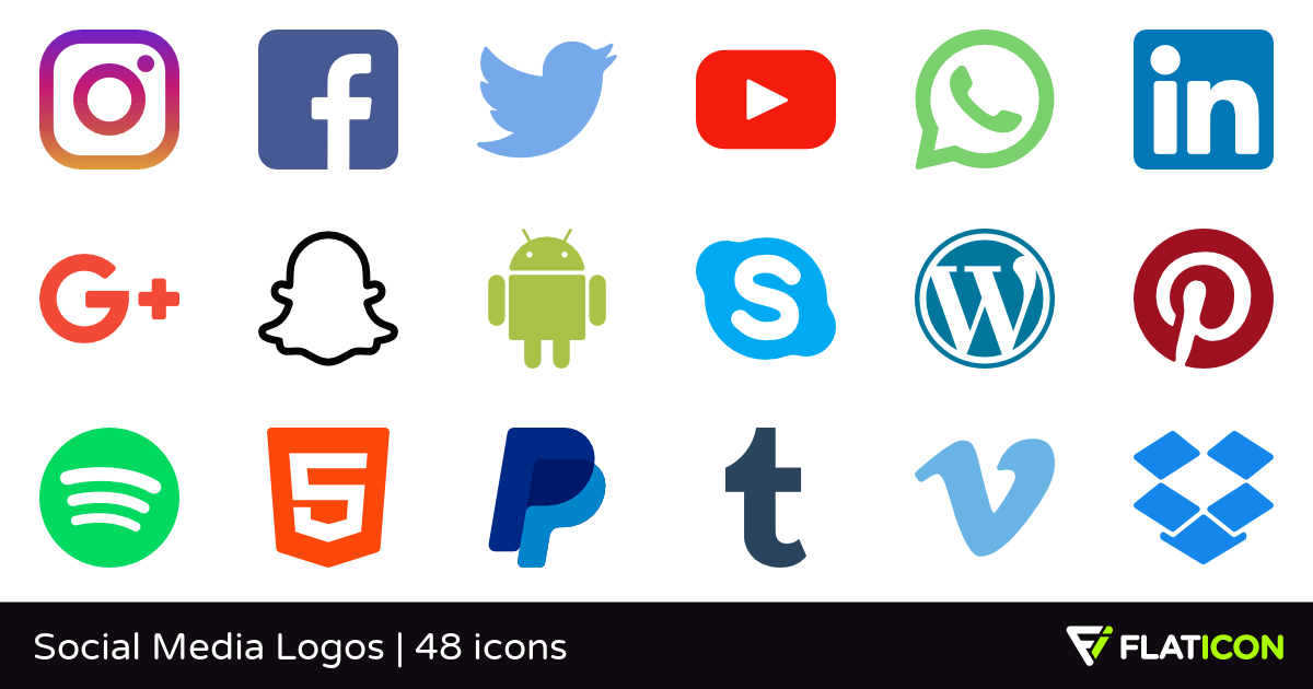 1200x630 Social Media Logos 48 Free Icons (Svg, Eps, Psd, Png Files)