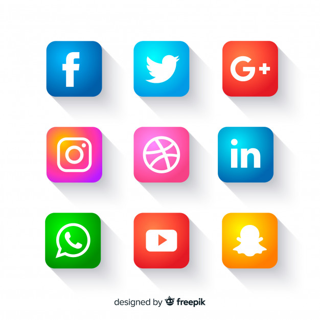 626x626 Social Media Icons Buttons Vector Free Download