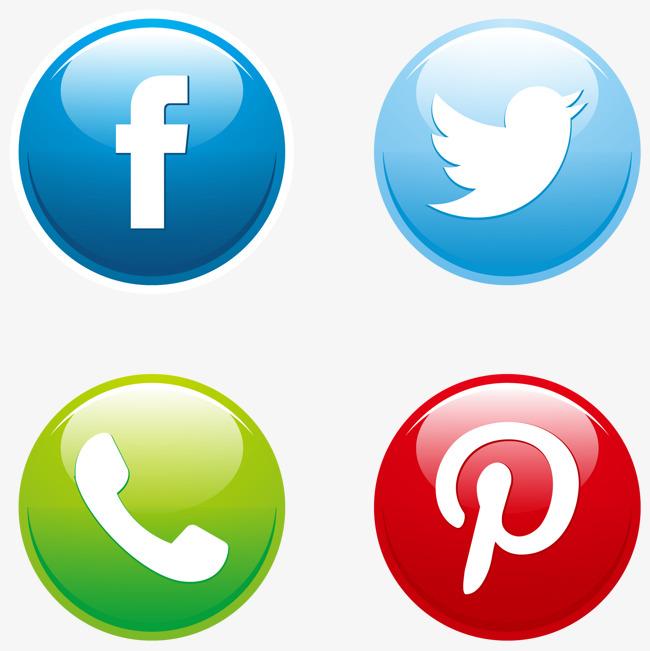 650x651 Vector Social Media Buttons Set, Socially, Media, Push Button Png
