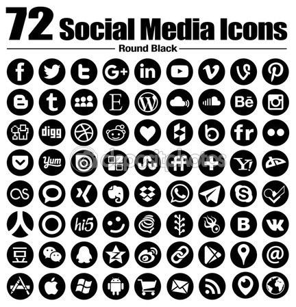 432x449 72 New Round Social Media Icons