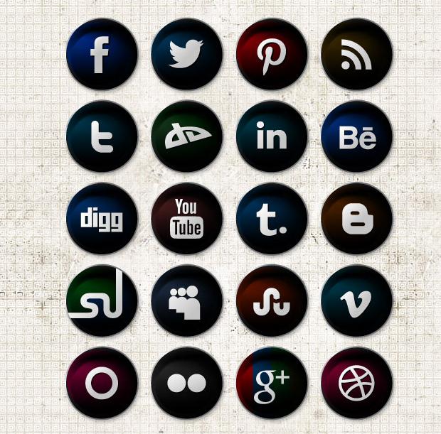 620x611 Social Media Icons