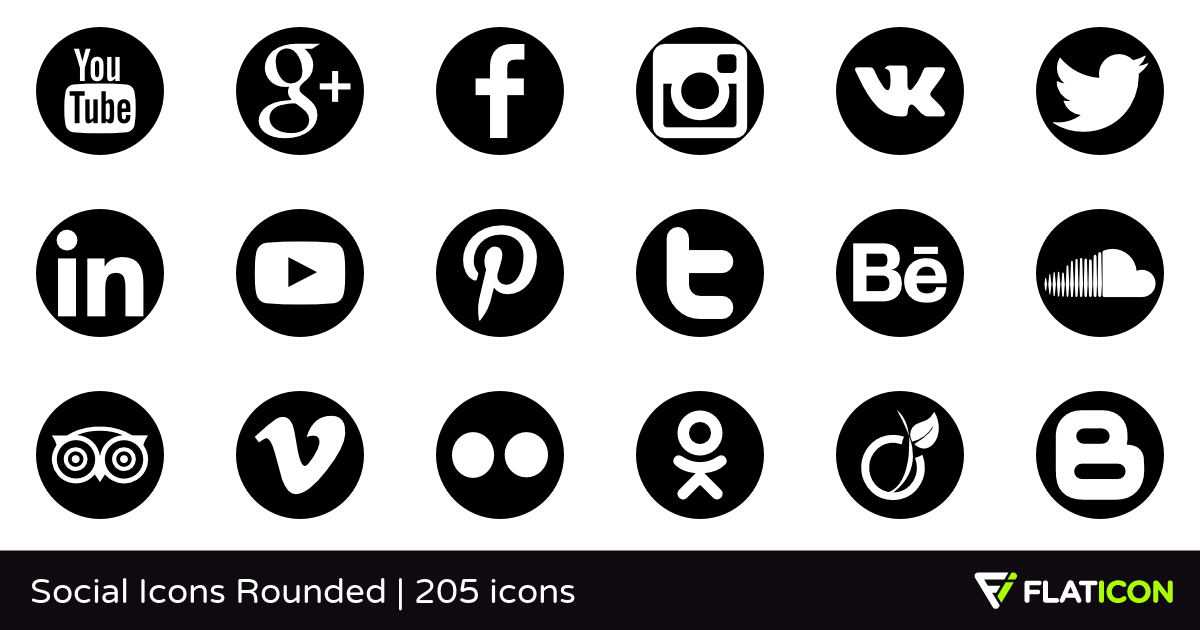1200x630 Social Icons Rounded +200 Free Icons (Svg, Eps, Psd, Png Files)