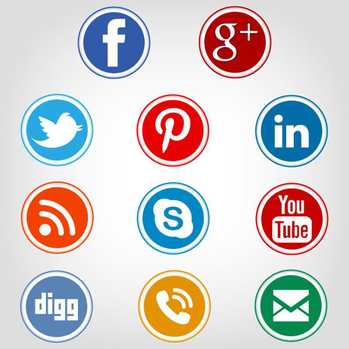 690x690 Social Media Circle Icons Webbyarts