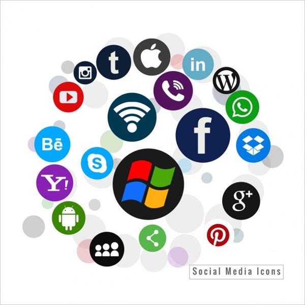600x600 Social Media Icons