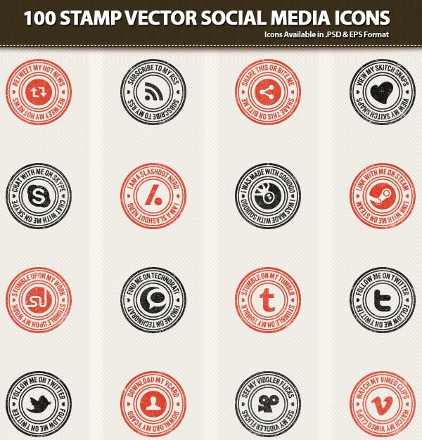600x626 23 Free Vector Icon Packs For Social Media